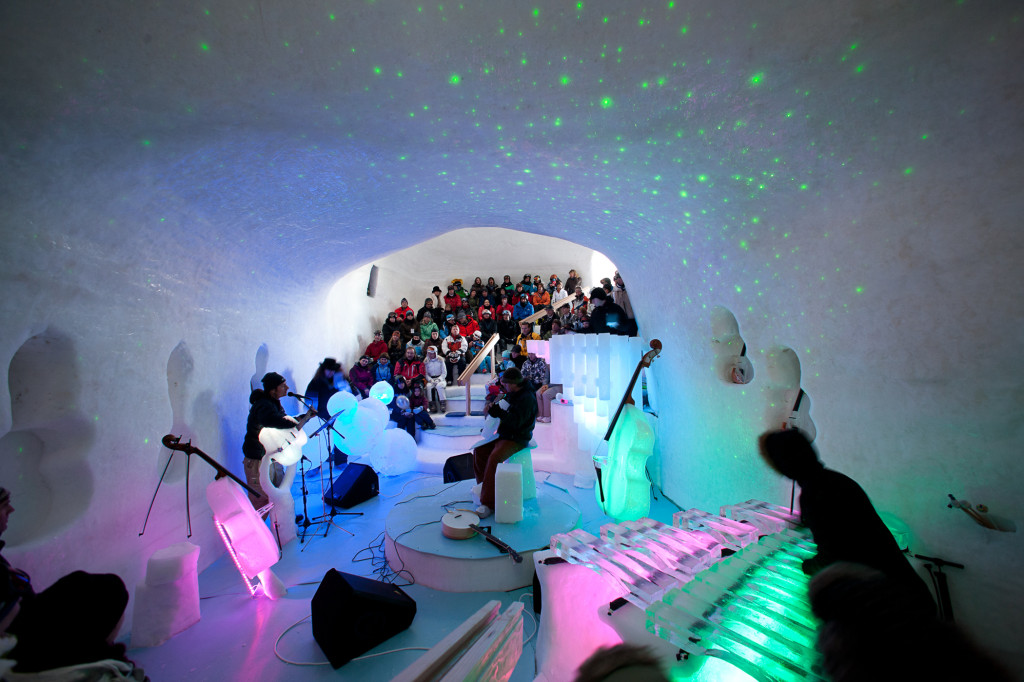 The ICEconcert hall – an enchanting Winter Wonderland of Music
